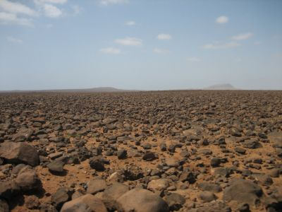 Rock desert inside the island of Boa Vista, Cape Verde - public domain, Wikimedia Commons - Ingo Wölbern